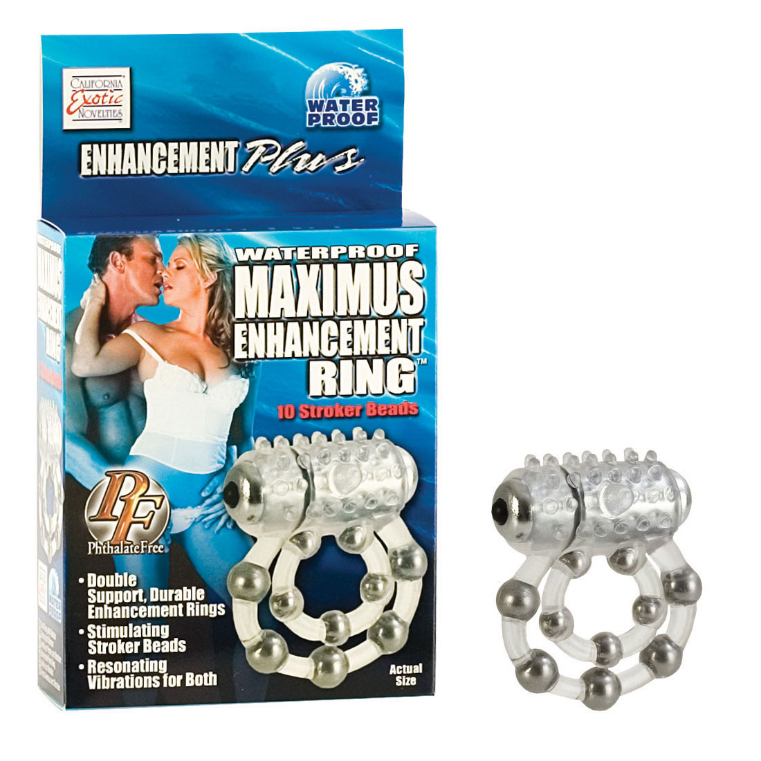 Эрекционное кольцо с массажными шариками и мини вибратором SE-1456-20-3 от California Exotic Novelties
