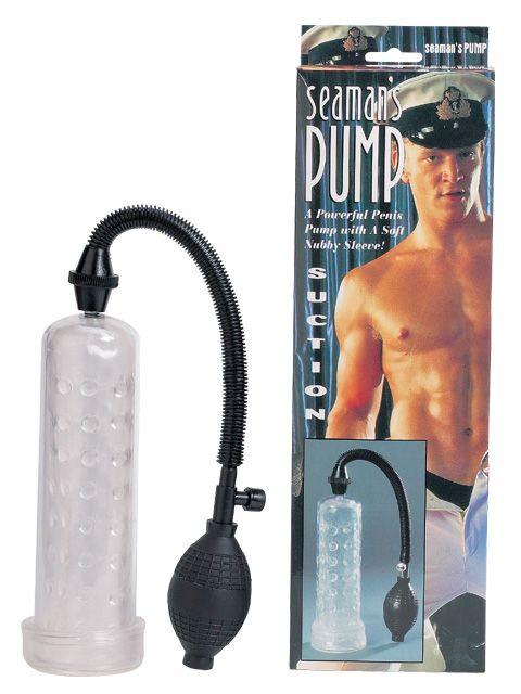 Вакуумный массажер-помпа для мужчин Seaman с силиконовой вставкой - фото 128448