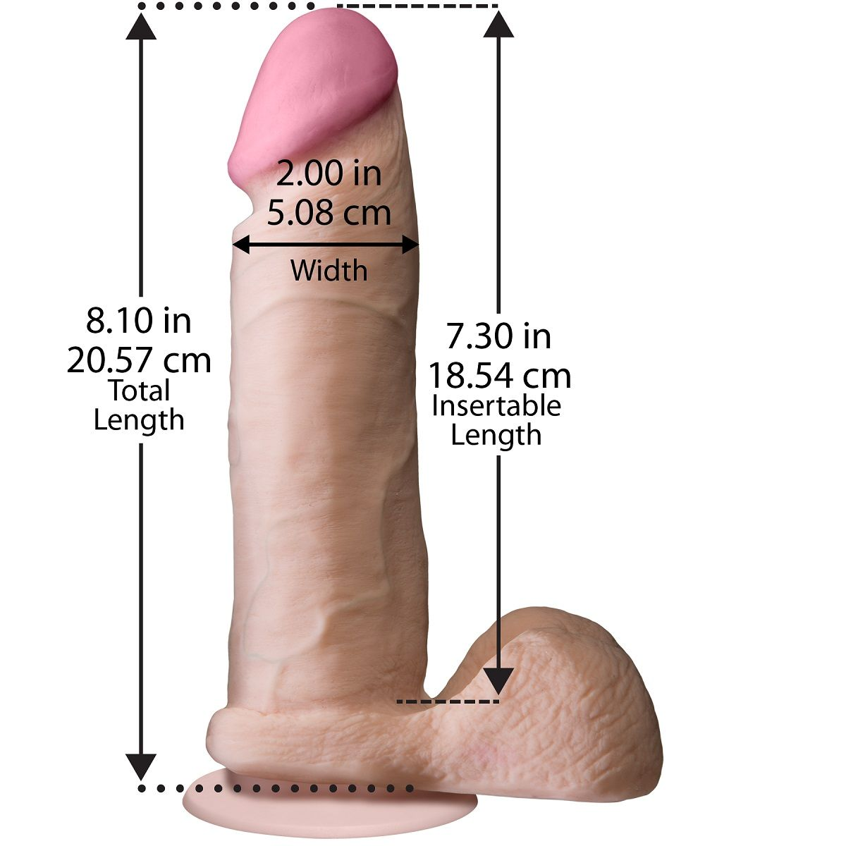 "Ультрареалистичный фаллоимитатор The Realistic Cock ULTRASKYN 8"" - 20,57 см. - фото 128468"