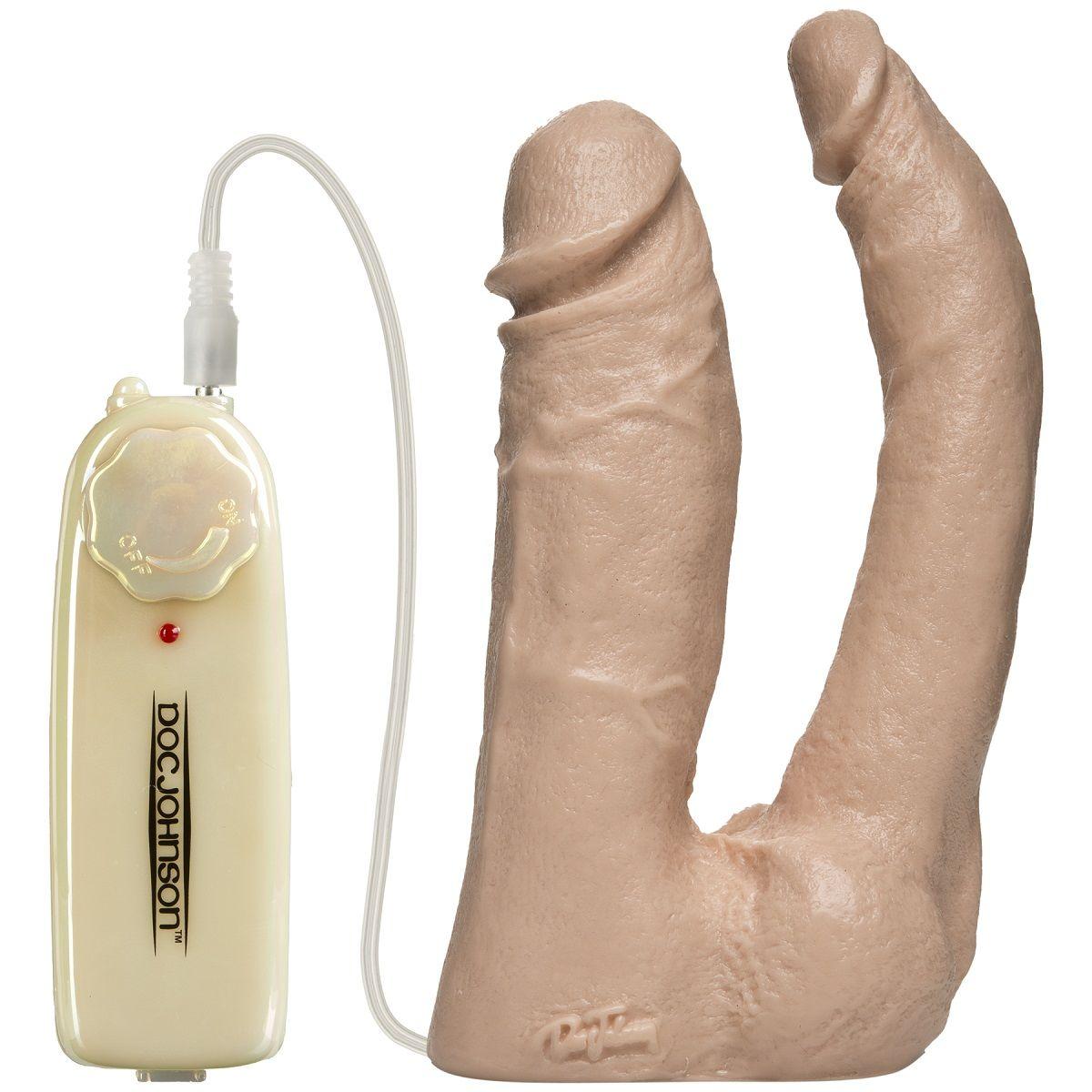 Анально-вагинальная вибронасадка Harness Vibro Double Penetrator - 16,7 см.