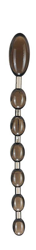 Дымчатая анальная цепочка ANAL ROD - 27,4 см.