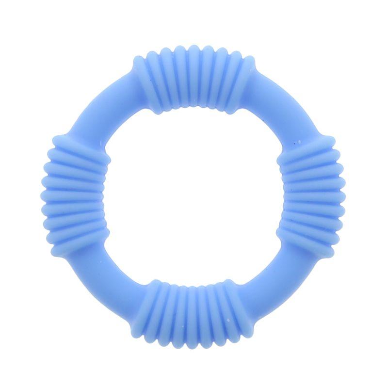 Голубое эрекционное кольцо PLAY CANDI COTTON POP BLUE
