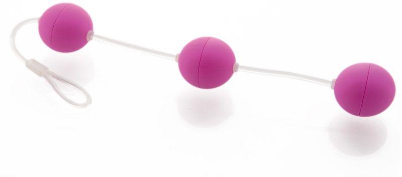 Анальная цепочка из 3 фиолетовых шариков