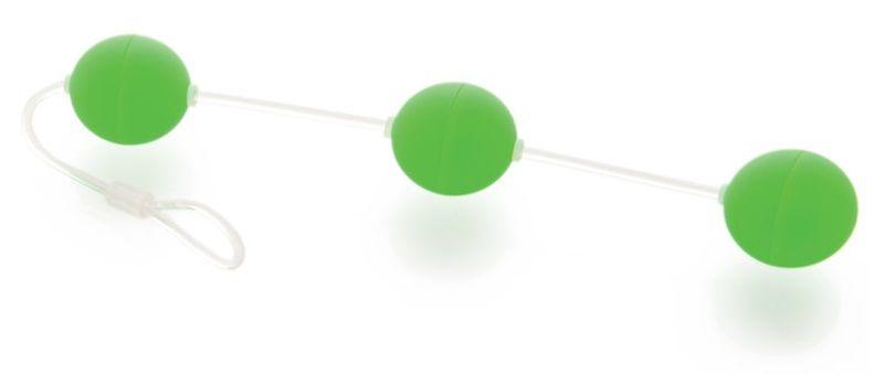 Анальная цепочка из 3 зеленых шариков