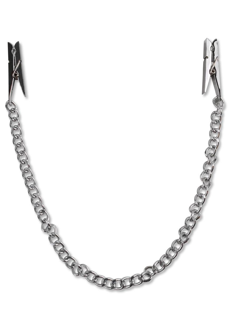 Цепочка с зажимами-прищепками для сосков Nipple Chain Clips - фото 128565
