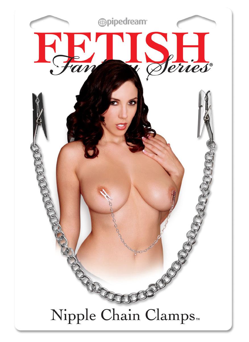 Цепочка с зажимами-прищепками для сосков Nipple Chain Clips