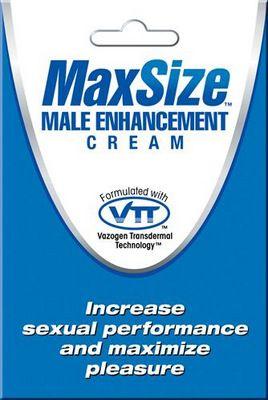 Пробник мужского крема для усиления эрекции MAXSize Cream - 4 мл. MSC1 от Swiss navy