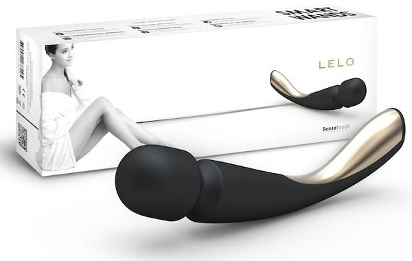Профессиональный массажер Smart Wand Medium черного цвета LEL8289 от Lelo