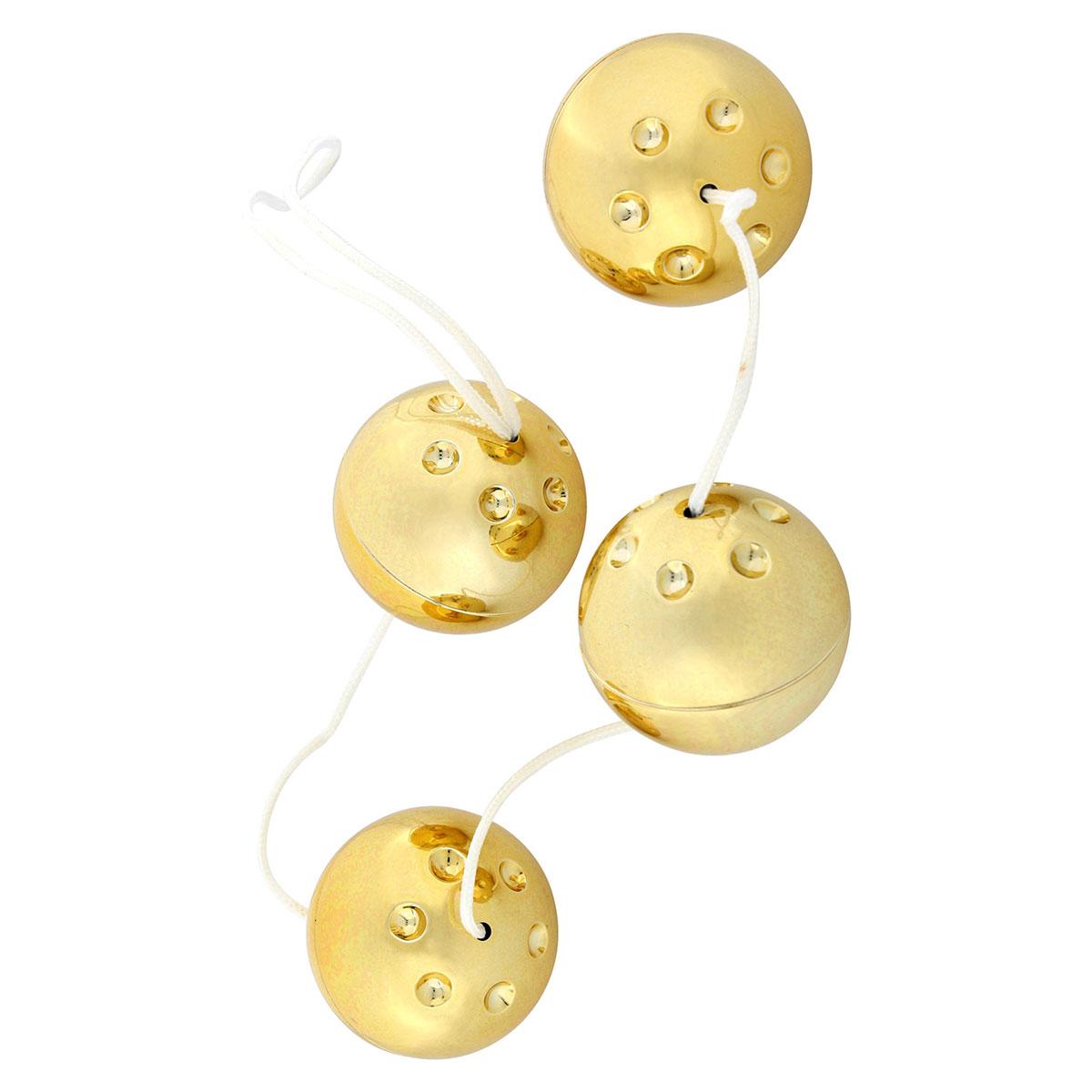 Четыре золотистых вагинальных шарика 7344QG BX GP от Seven Creations