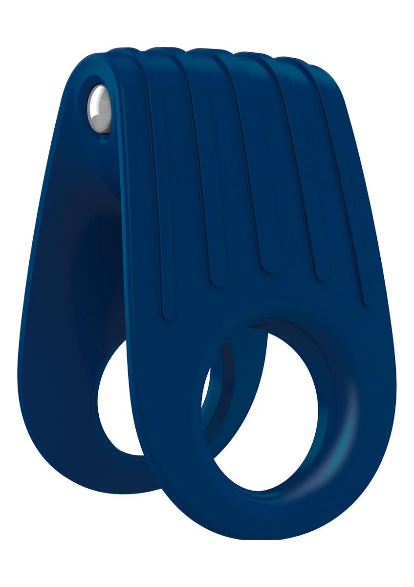 Двойное синее эрекционное виброкольцо B12