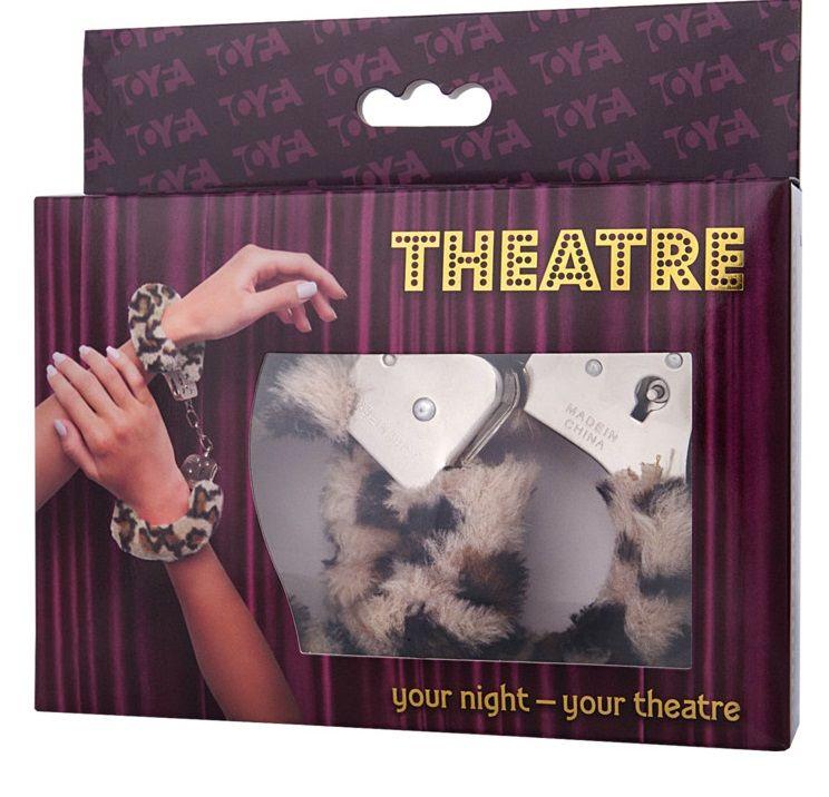 Наручники с леопардовым принтом на опушке - фото 131351