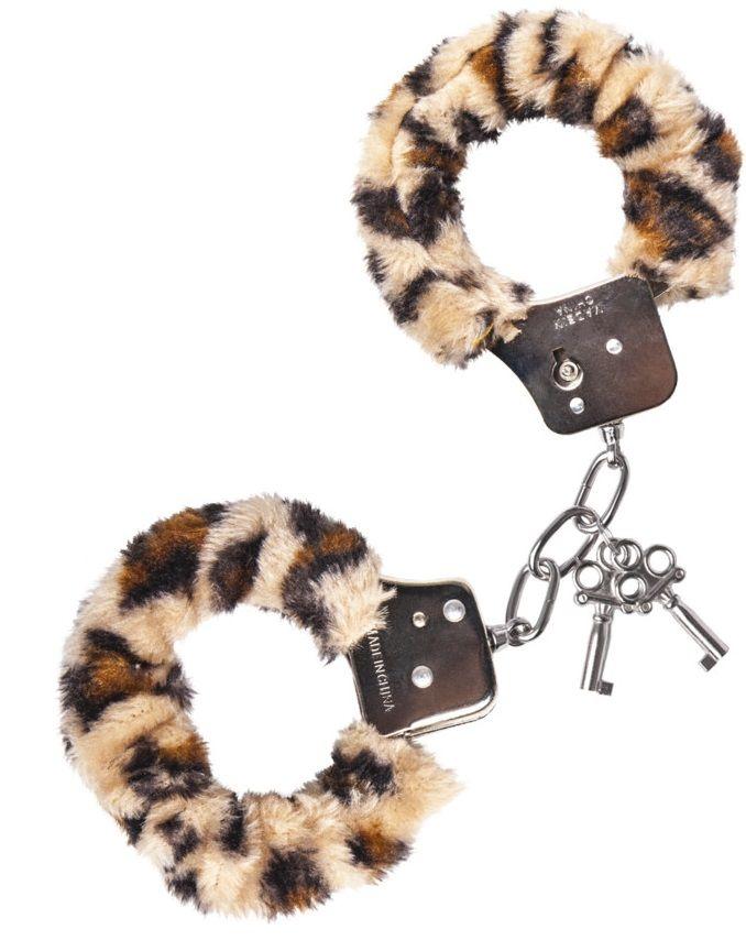 Наручники с леопардовым принтом на опушке - фото 131349