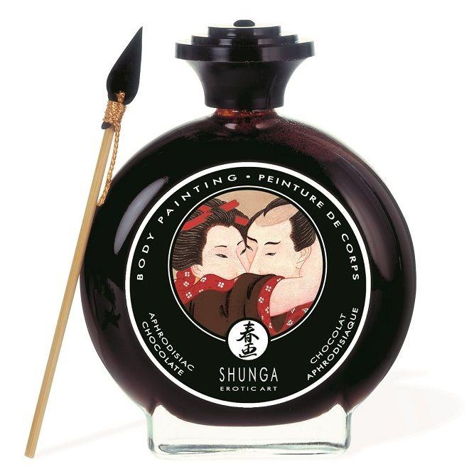 Декоративная крем-краска для тела с ароматом шоколада 7000 от Shunga