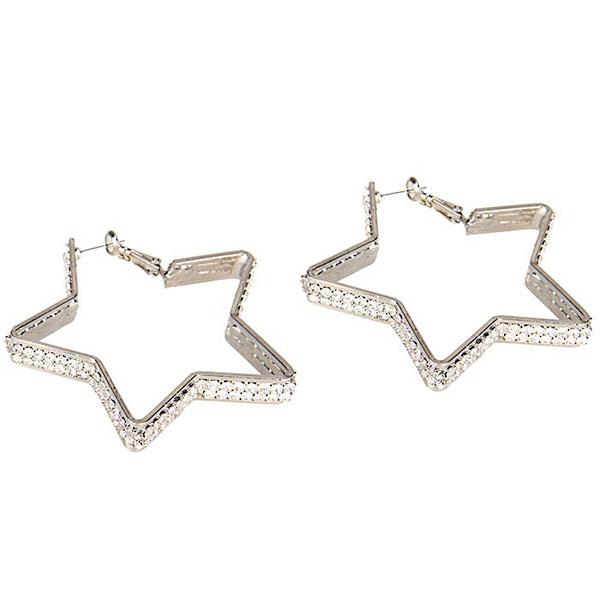 Серьги-звездочки с кристаллами Diamond Star