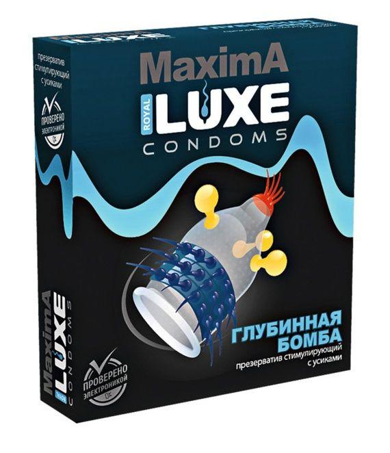 Презерватив LUXE Maxima  Глубинная бомба  - 1 шт. LUXE Maxima №1  Глубинная бомба от Luxe