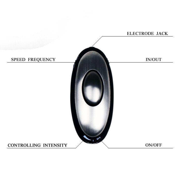 Анальная пробка с электростимуляцией E-passion Plug - 7,4 см.