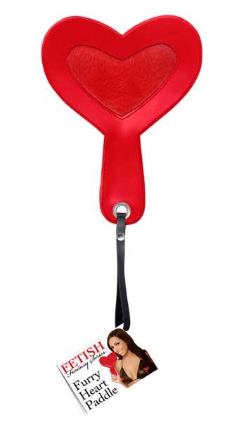 Шлепалка в форме сердца FURRY HEART PADDLE - 24 см.