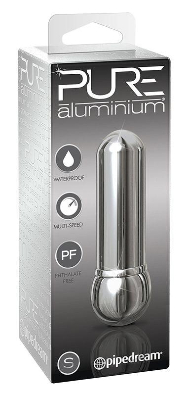 Алюминиевый вибратор SILVER SMALL - 7,5 см.