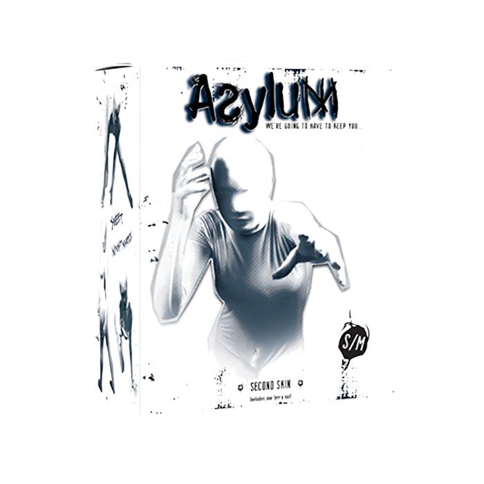 Белый кэтсьюит Asylum с маской на голову размера S/M