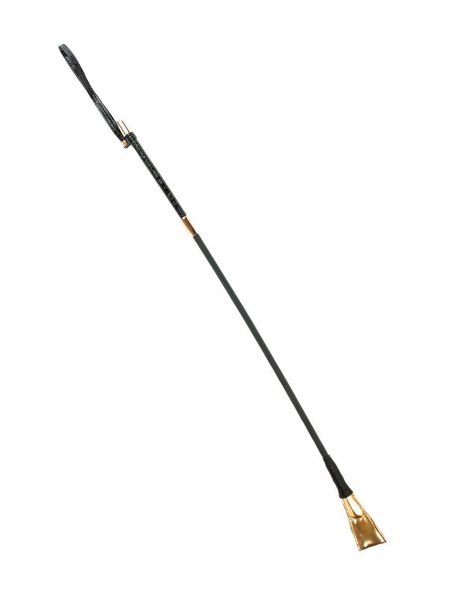 Чёрный с золотом стек Riding Crop - 67 см.