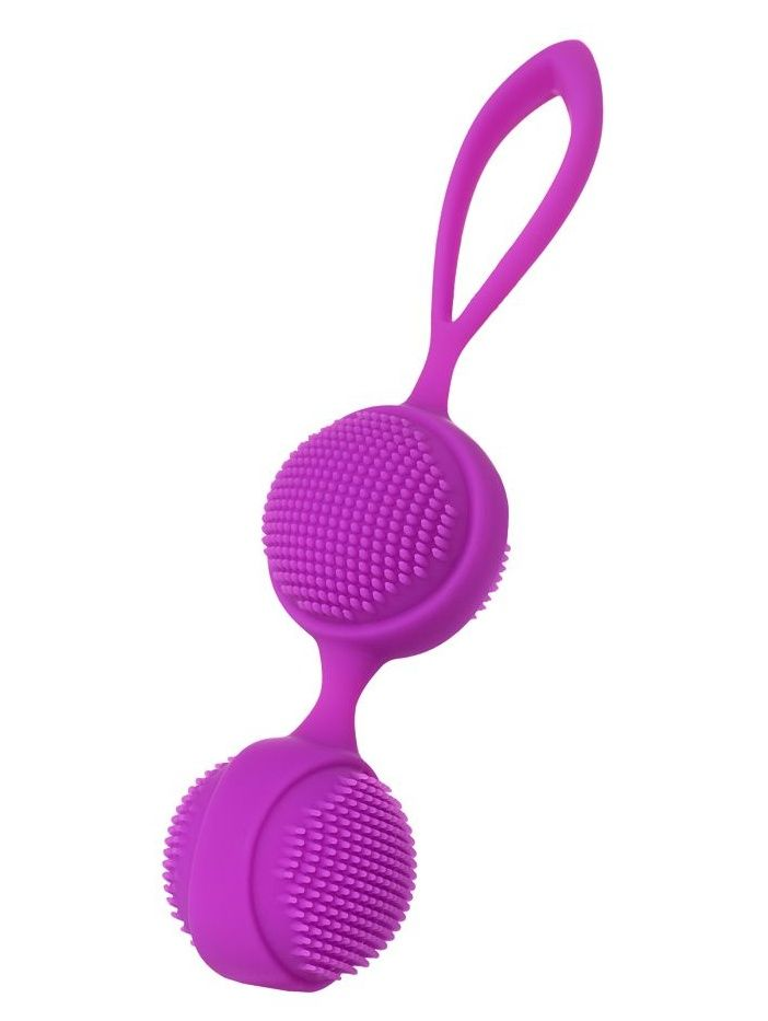 Фиолетовые вагинальные шарики с ресничками JOS NUBY