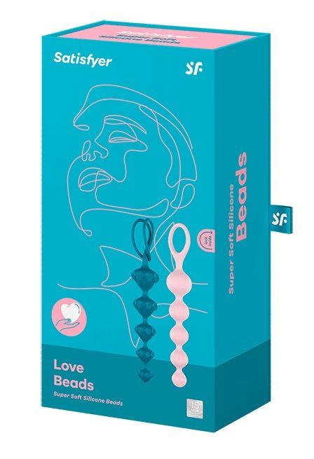 Набор из 2 цветных анальных цепочек Satisfyer Love Beads