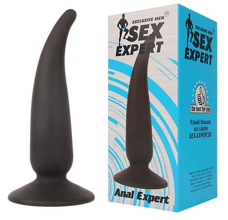 Анальная пробка с тонким кончиком Sex Expert - 11 см.