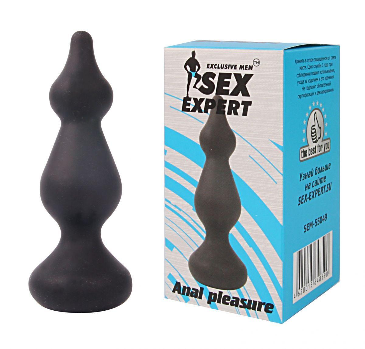 Фигурная анальная втулка Sex Expert - 10 см.