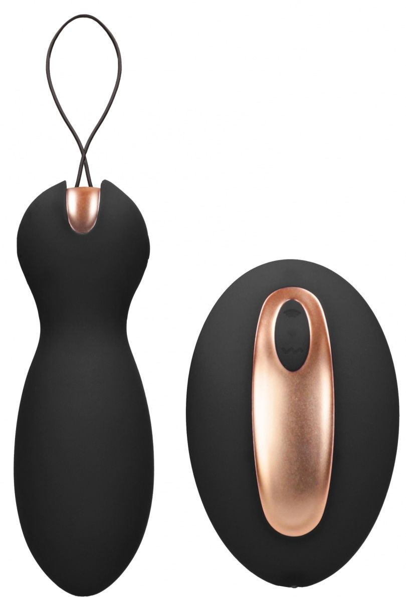 Черные вагинальные шарики Purity с пультом ДУ ELE017BLK от Shots Media BV