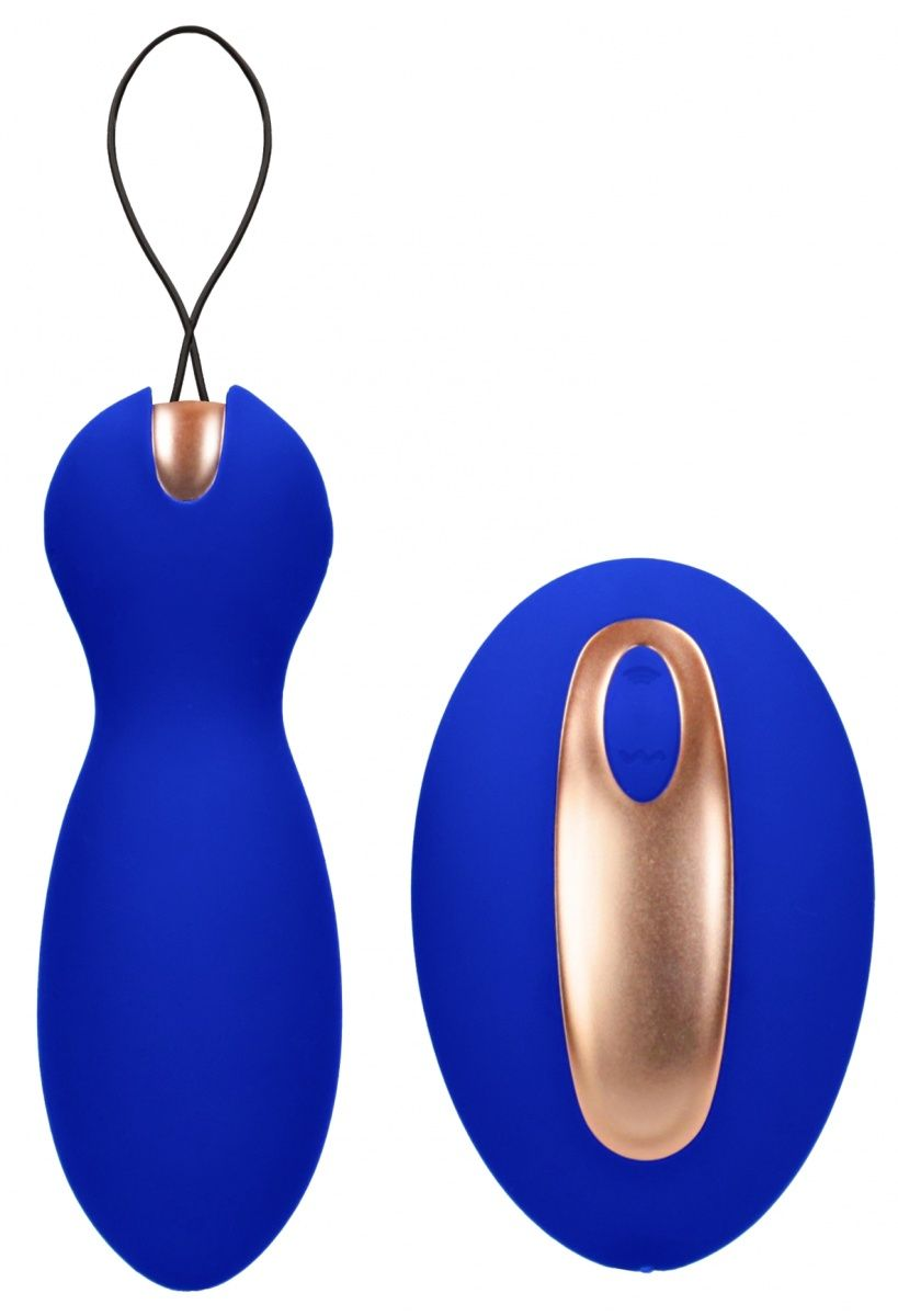 Синие вагинальные шарики Purity с пультом ДУ ELE017BLU от Shots Media BV