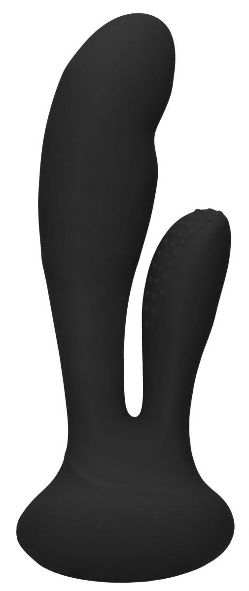 Черный вибратор G-Spot and Clitoral Vibrator Flair - 17,5 см. ELE013BLK от Shots Media BV