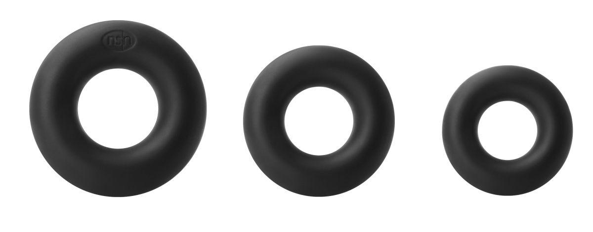 Набор черных колец из мягкого силикона Super Soft Power Rings