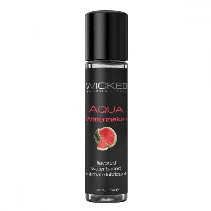 Лубрикант с ароматом арбуза WICKED AQUA Watermelon - 30 мл.