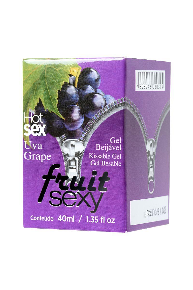 Массажное масло FRUIT SEXY Grape с ароматом винограда и разогревающим эффектом - 40 мл.