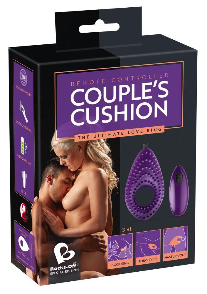 Фиолетовое виброкольцо Couples Cushion