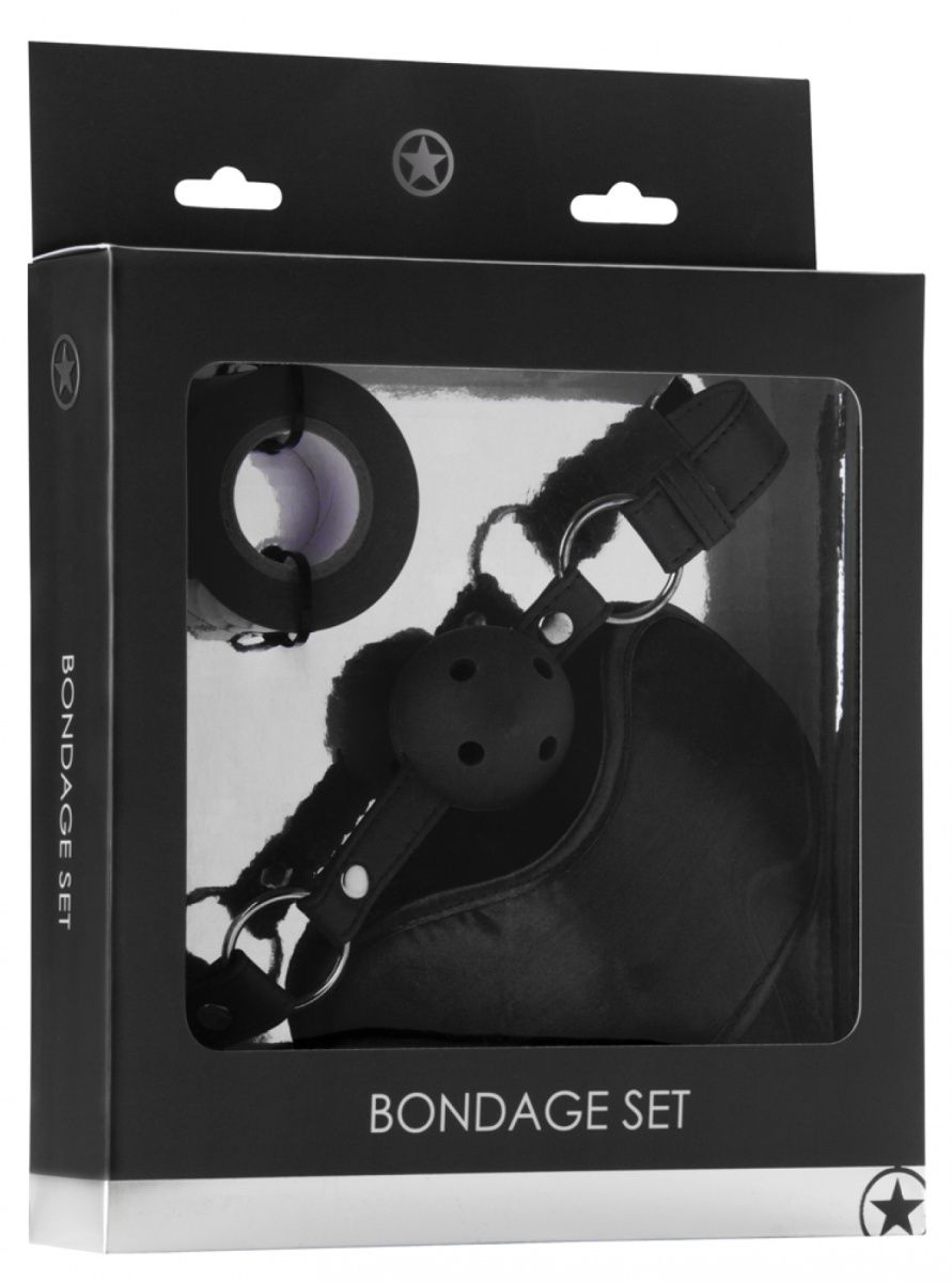 Оригинальный набор Bondage Set: маска, кляп-шарик и скотч