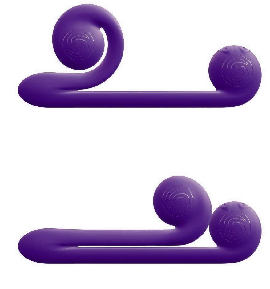 Уникальный фиолетовый вибромассажер-улитка для двойной стимуляции Snail Vibe