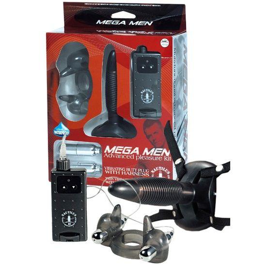 Черный вибронабор MEGA MEN 140045 от NMC