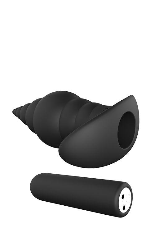 Черный анальный вибромассажер REMOTE ANAL TURRID - 12,7 см.