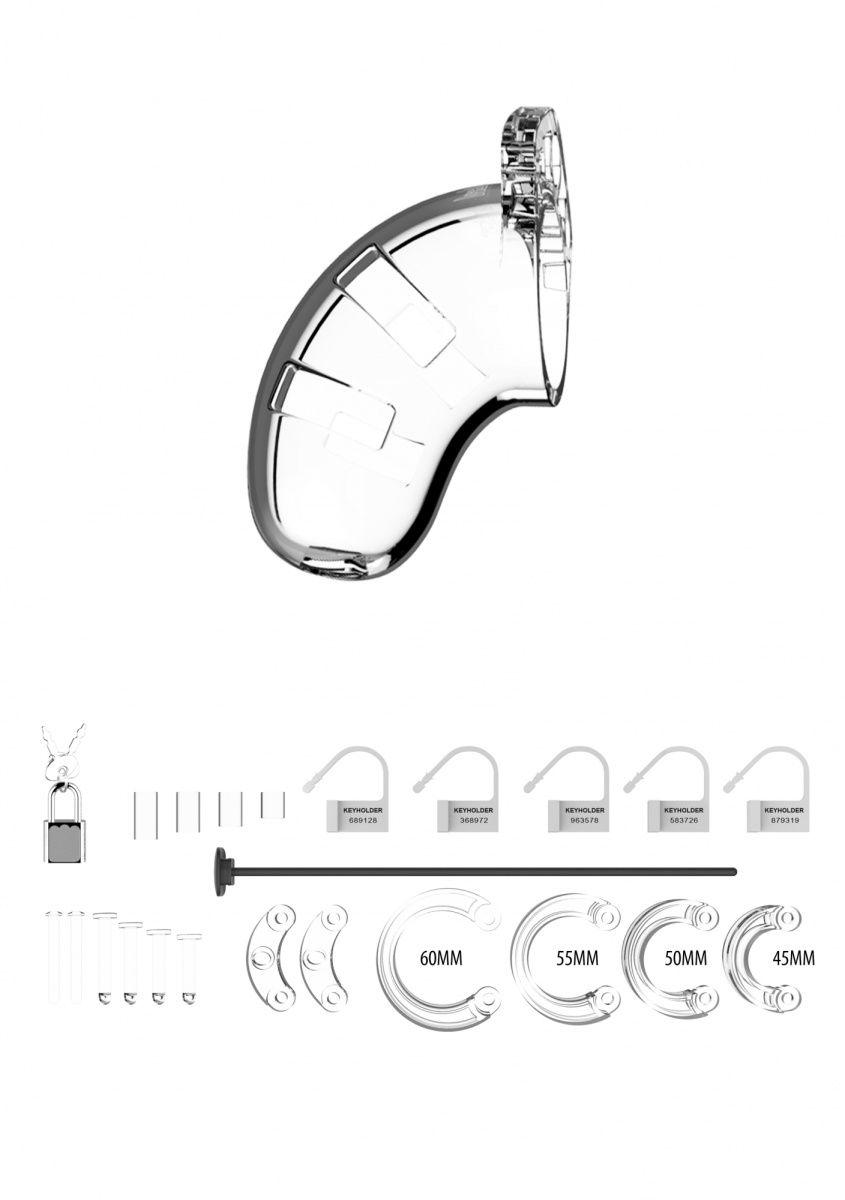 Прозрачный мужской пояс верности со стимулятором уретры Cock Cage Model 15 Chastity 3.5