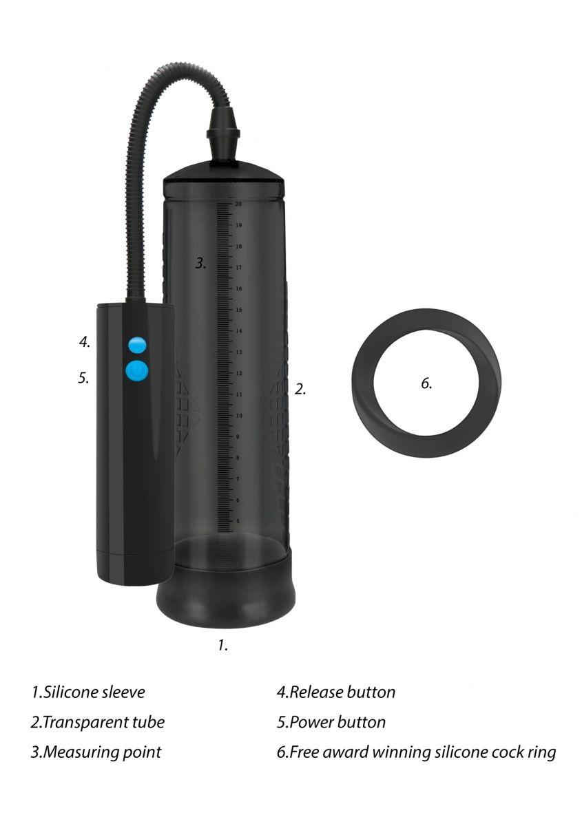 Черная автоматическая вакуумная помпа для мужчин Extreme Power