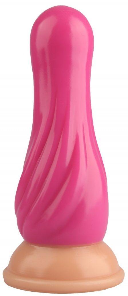Розовая анальная втулка с круглой головкой - 17,5 см.