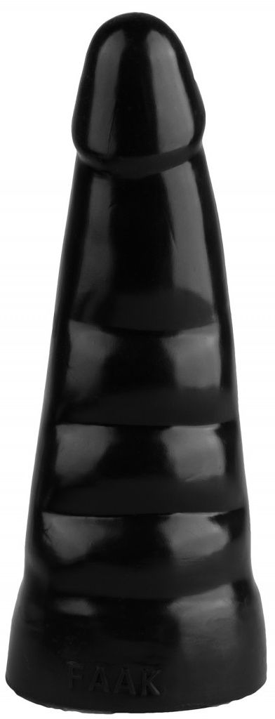 Черная анальная втулка с шипиками - 21 см.