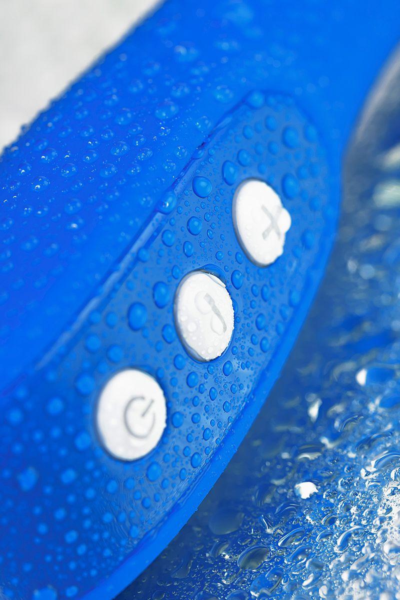 Нереалистичный синий вибратор BLURY - 18,5 см.