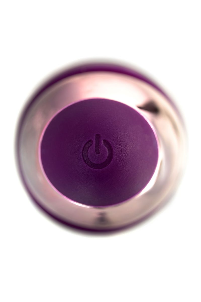 Фиолетовый клиторальный вибростимулятор FLO - 18,5 см.
