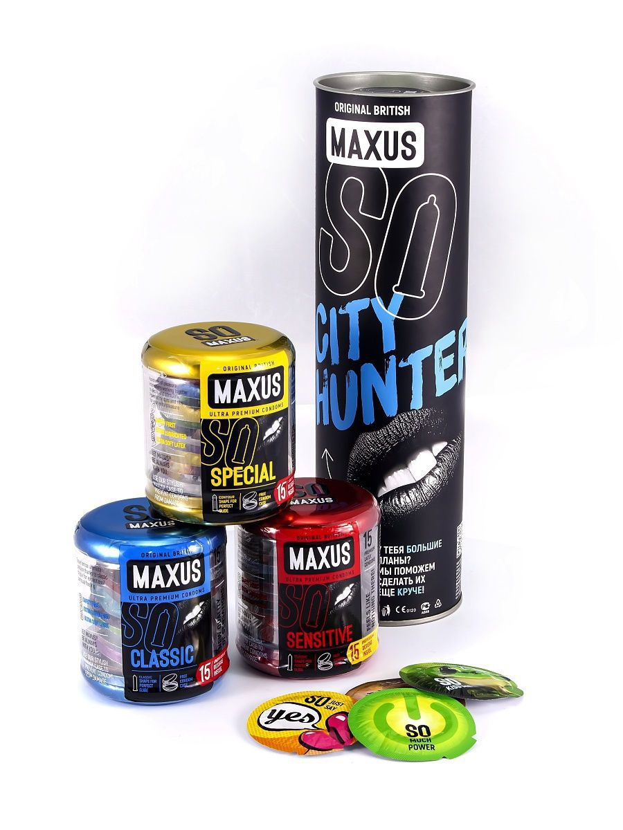 Набор презервативов MAXUS City Hunter