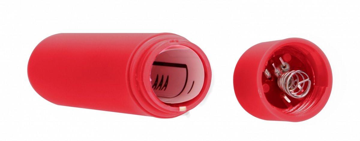 Красная вибропуля Speed Bullet - 9,3 см.