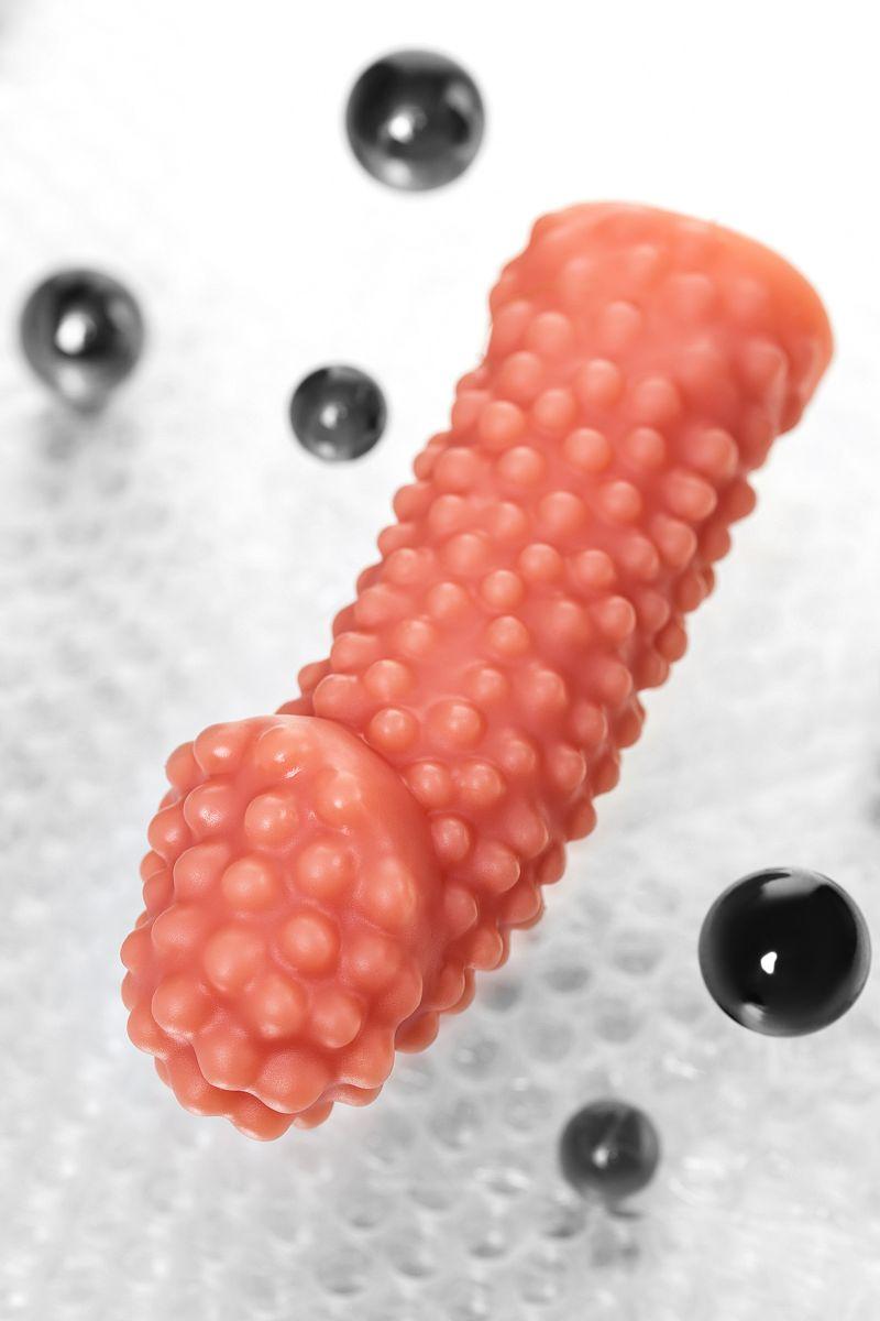 Реалистичная насадка на пенис с бугорками - 16,5 см.