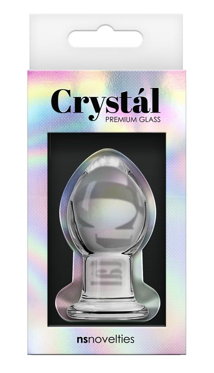 Стеклянная анальная пробка Crystal Small - 6,2 см.