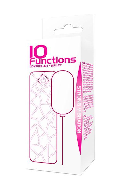 Ярко-розовое виброяйцо VIBRATING MINI BULLET 10FUNCTIONS